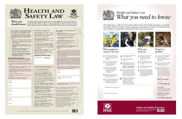 lth and Safety at Work Act Poster