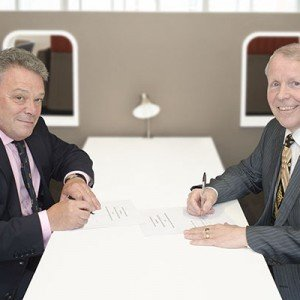 Ian Prosser, director for Railway Safety (left) and Eddie Morland, HSL's chief executive (right).