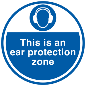 Ear Defender Sign