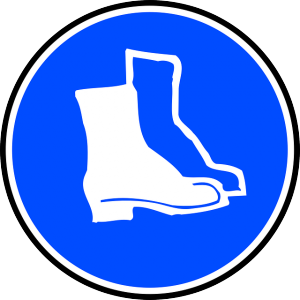 A Safety Boots sign