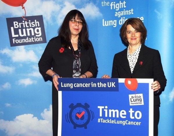 Jane Ellison MP (left) and Dr Penny Woods, British Lung Foundation