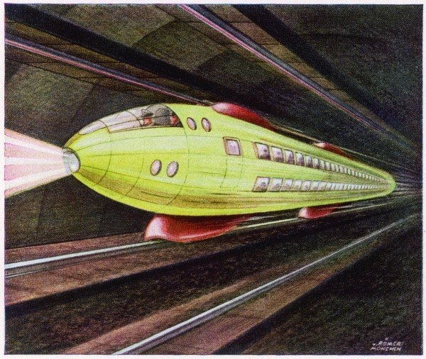 Future Monorail. Image shot 1941. Exact date unknown.