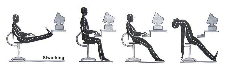 bureaustoel rug