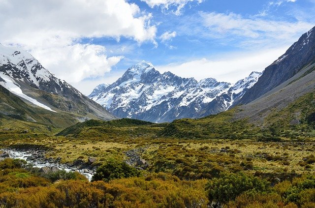 Aoraki/Mount Cook - the tallest mountain in New Zealand
