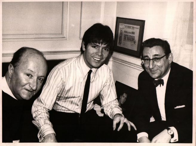 James Tye with Cliff Richard, one of many celebrities who took part in the British Safety Council campaigns
