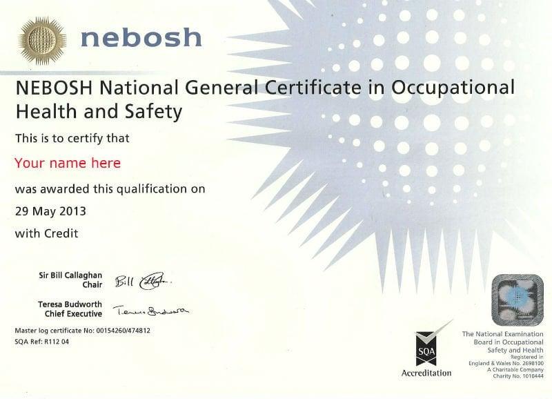 Nebosh Diplomas General Certificate And Awards