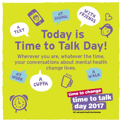 time to talk day conversations about mental health change