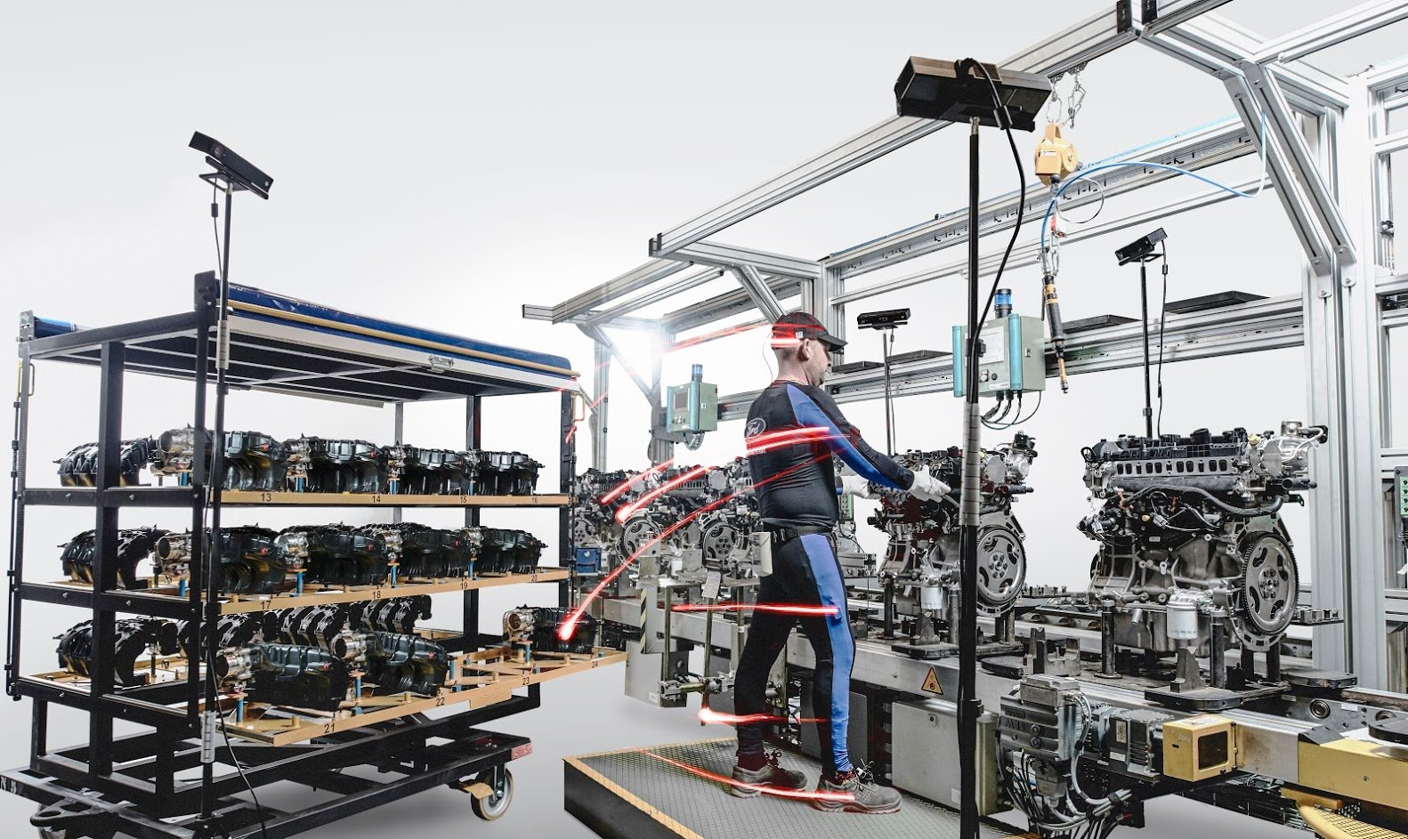 Car manufacturer uses body tracking technology to improve for Ford motor company risk assessment