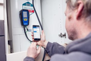 Gas Safety Specialists, Gas Tag app in use