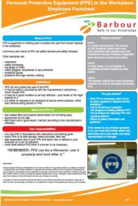PPE - employee factsheet