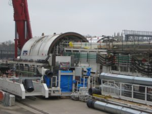 Crossrail tunnel boring maching