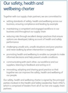 Thames Water Safety, Health and Wellbeing Charter