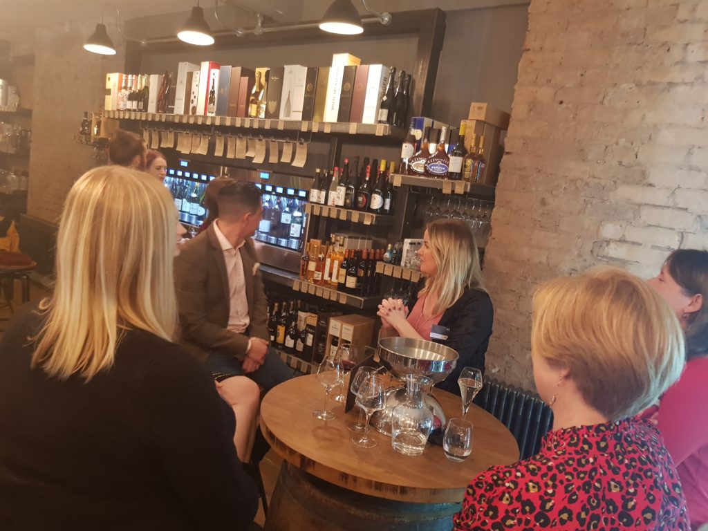 Women in health and safety christmas wine tasting event in Birmingham