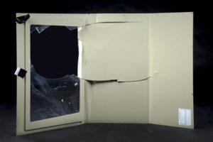 Damaged lift vision panel