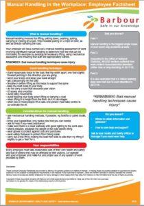Manual Handling factsheet