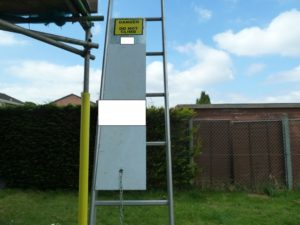 Fine after 12-year-old fell from ladder at unsecured site