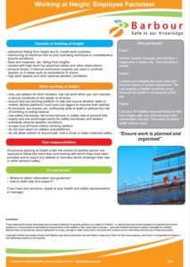 Working at Height Employee Factsheet