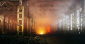 Fire in the factory