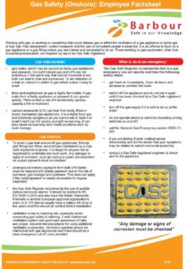 Barbour Gas Safety Employee Factsheet