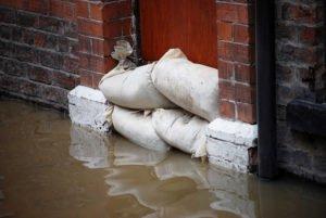sandbag protection for flood
