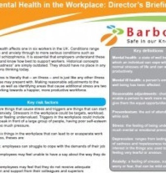 Barbour download: Mental Health in the Workplace